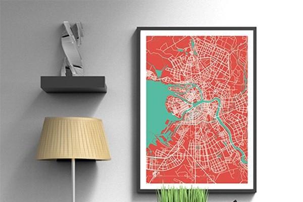 Рисую векторные карты-постеры для интерьера 1 - kwork.ru