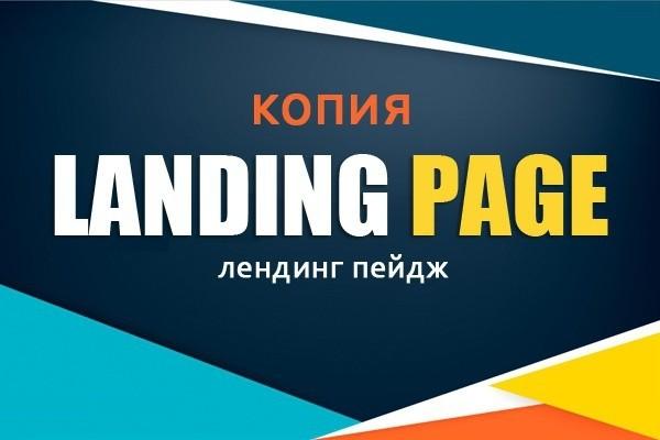 Скопирую любой Landing Page. Полная настройка форм, текстов, фото 1 - kwork.ru