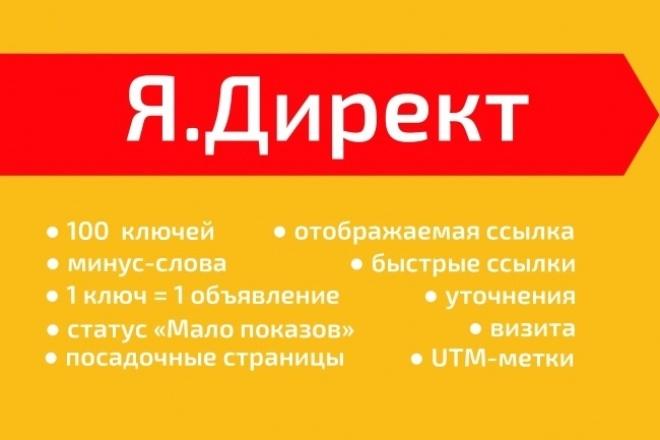 Яндекс. Директ. Создание РК на 100 ключей 1 - kwork.ru