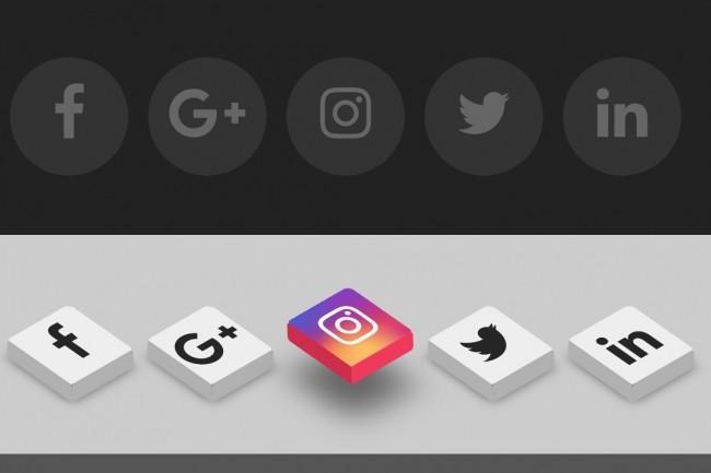 Дизайн кнопок и ссылок 1 - kwork.ru