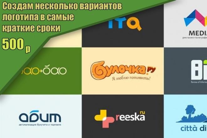 Создам несколько вариантов логотипа 1 - kwork.ru
