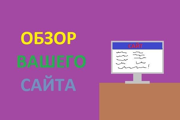 Обзор вашего сайта 1 - kwork.ru
