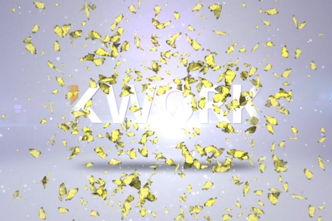 Создам магическое интроИнтро и анимация логотипа<br>Крутое волшебное, магическое интро с бабочками как в примере с вашим логотипом, названием канала youtube или текстом<br>