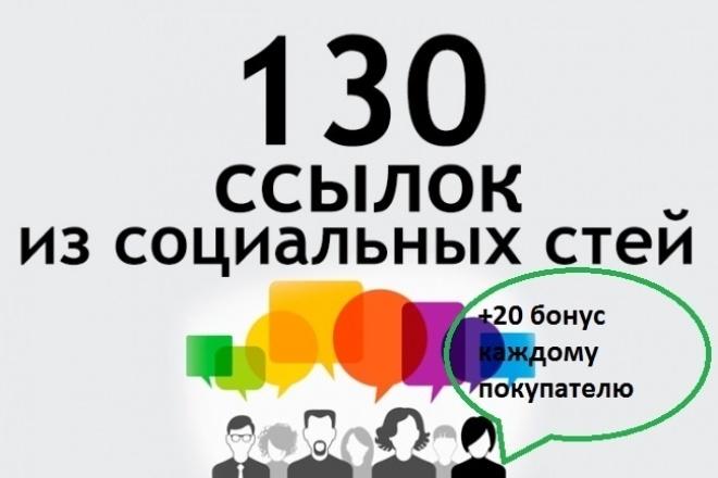 130 вечных ссылок из соц. сетей на ваш сайт +20 бонус каждому покупателю 1 - kwork.ru