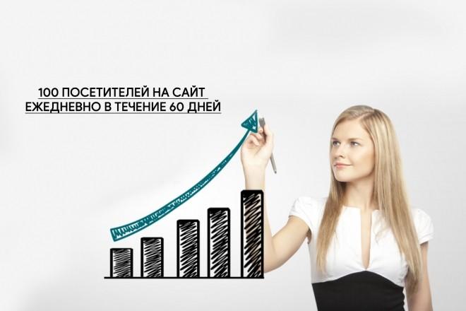 100 посетителей на сайт ежедневно в течение 60 дней 1 - kwork.ru
