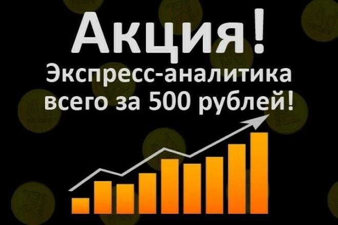 Экспресс анализ сайта (WEB аналитика) 1 - kwork.ru