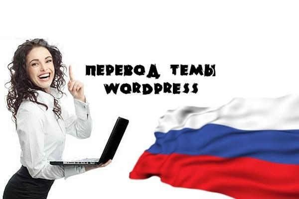 Переведу англоязычную тему на движке Wordpress на русский язык 1 - kwork.ru