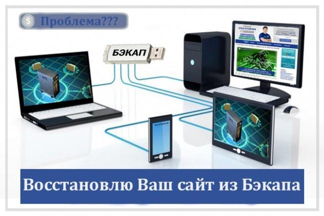 Восстановлю Ваш сайт из Бэкапа 1 - kwork.ru
