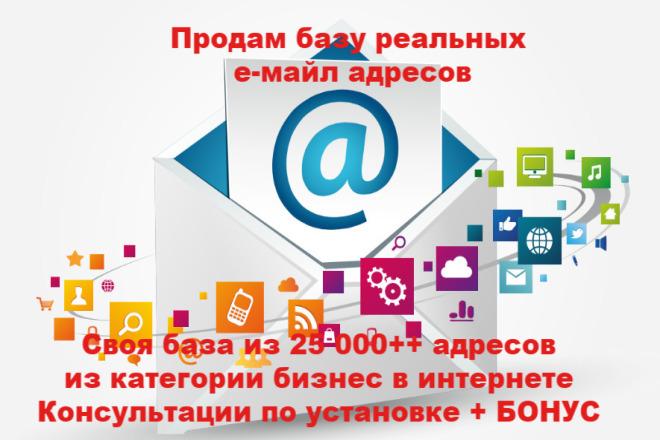 Продам свою базу в 25000 чел. из реальных пользователей. + Бонусы 1 - kwork.ru
