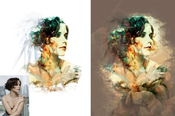 сделаю стилизованный портрет, замену фона картинки, цветокоррекцию, ретушь 1 - kwork.ru
