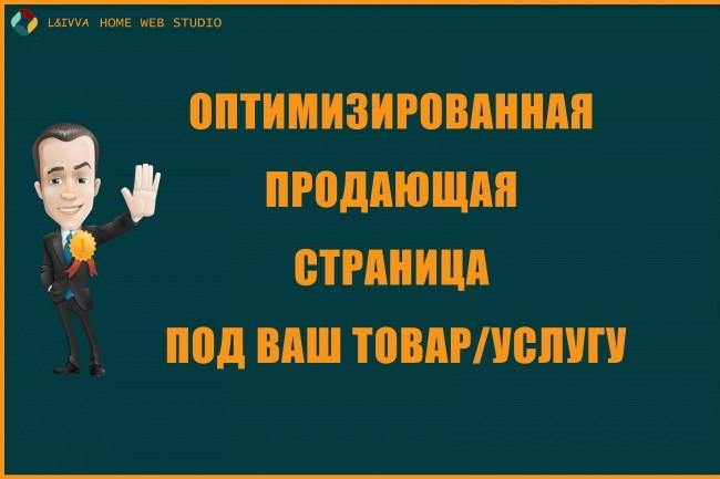 Оптимизированная продающая страница 1 - kwork.ru
