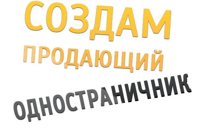 Создам продающую страничку landing page 1 - kwork.ru