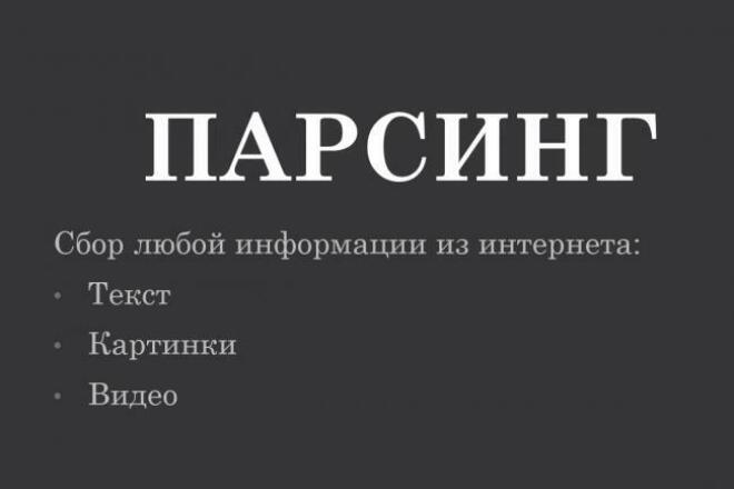 Парсинг любых сайтов, любой информации. Товары, контакты, картинки 1 - kwork.ru