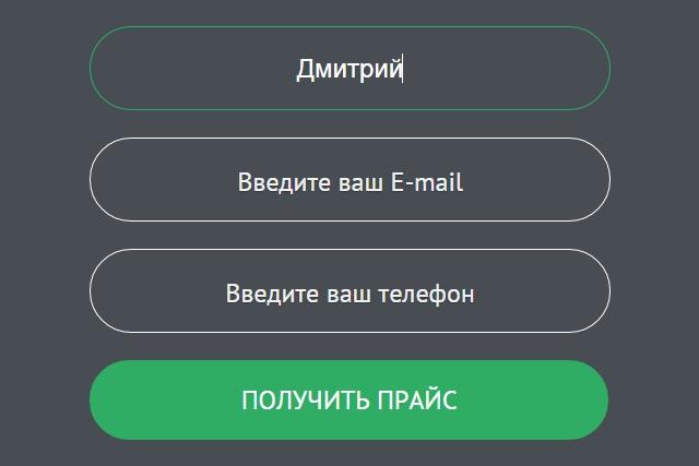 Настрою и поставлю любую форму обратной связи на ваш сайт 1 - kwork.ru