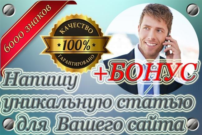 Напишу уникальную статью для вашего сайта 1 - kwork.ru