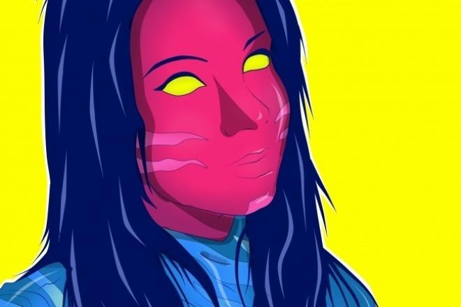 Нарисую вас в стиле future ART 1 - kwork.ru