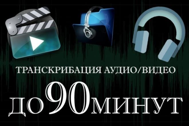 Перевод 90 минут аудио или видео в текст 1 - kwork.ru