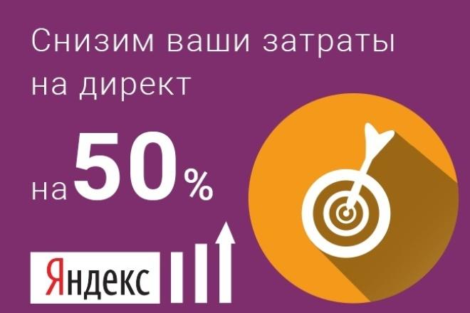 Настроим вашу кампанию с гарантированной экономией бюджета до 50% 1 - kwork.ru