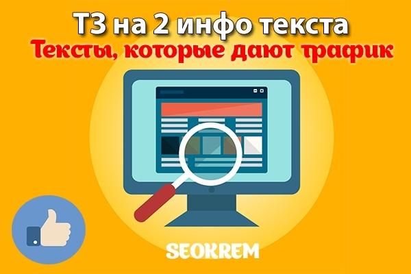 Профессиональное ТЗ на тексты - 2 информационные статьи 1 - kwork.ru