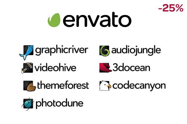 Любые шаблоны, логотипы, скрипты и 3d модели из envato со скидкой 25% 1 - kwork.ru