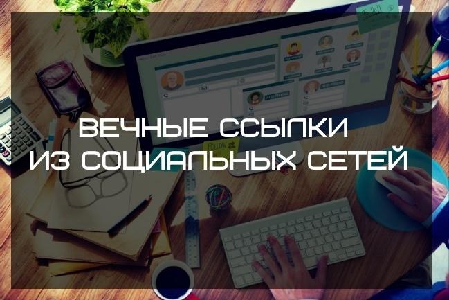 Вечные ссылки из соцсетей. Общая аудитория более 120 000 подписчиков 1 - kwork.ru