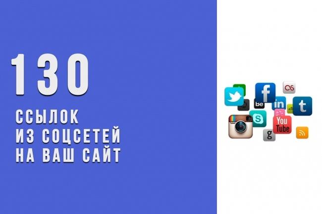 +130 вечных ссылок из соцсетей на Ваш сайт 1 - kwork.ru