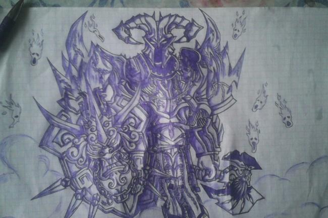 Карандашный рисунок ручкой, Перерисовка с изображения на лист 1 - kwork.ru