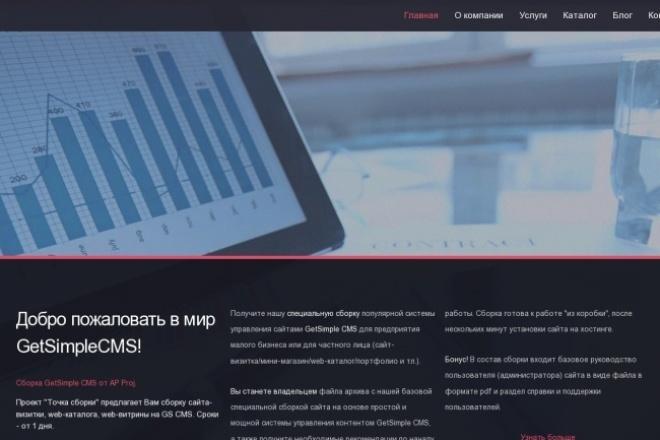 Создам тему для GetSimple CMS из Вашего html-шаблона 1 - kwork.ru