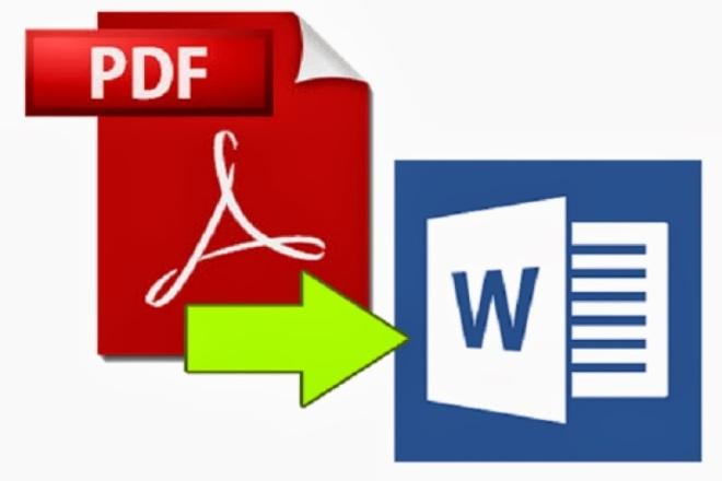 Конвертирую документы формата PDF в текстовый формат Word 1 - kwork.ru