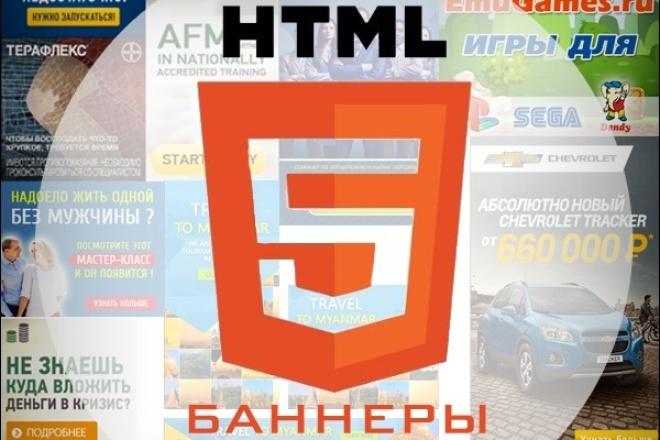 сделаю html5 баннер 1 - kwork.ru