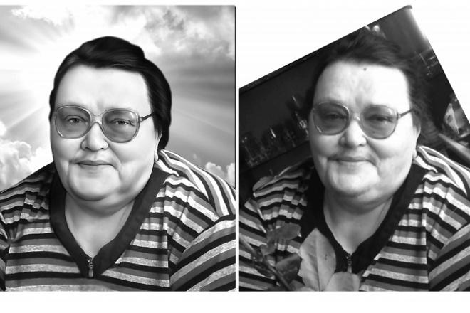 Ретушь портрета на габбро для гравировального станка 1 - kwork.ru
