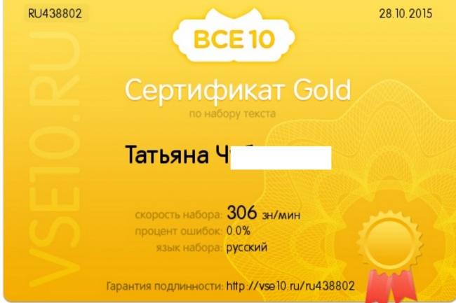 набор текста на русском языке по аудио- или видеозаписи + редактирование 1 - kwork.ru