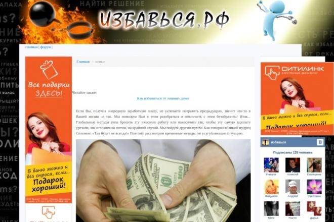 2 вечные статьи. 2 сайта общей тематики. Трафик 1500 хостов в сутки 1 - kwork.ru