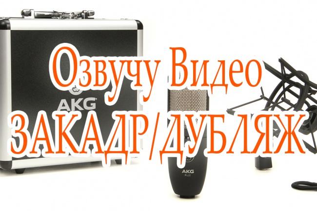Озвучу ваше видео под дубляж или закадр 1 - kwork.ru