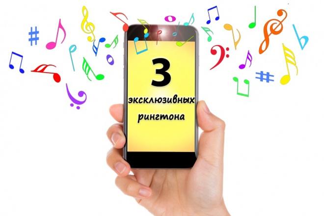 3 эксклюзивных рингтона на телефон 1 - kwork.ru