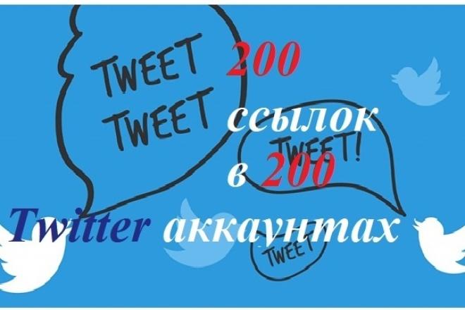 Размещу 200 постов с ссылками в 200 Twitter аккаунтах 1 - kwork.ru