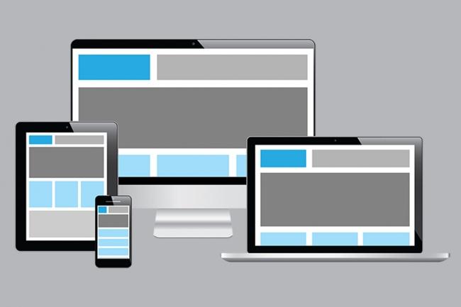 Адаптивная вёрстка сайтаВерстка и фронтэнд<br>Делаю адаптивную и кроссбраузерную вёрстку сайта из PSD или любого другого макета. Использую: HTML5, CSS3, JavaScript, Bootstrap, JQuery.<br>