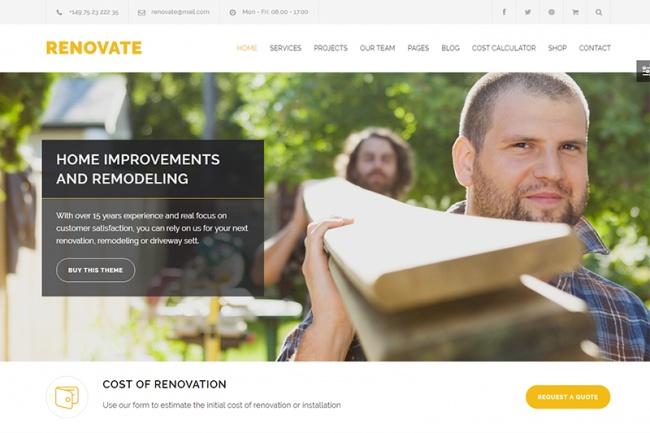 Сайт строительной компании - Wordpress шаблон 1 - kwork.ru