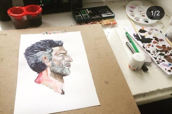Пишу портрет АкварельИллюстрации и рисунки<br>Пишу портреты Акварель, формат А4 и А3. Пишу с фото хорошего качества. При необходимости любая работа корректируется.<br>