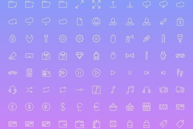 340 иконок для вашего сайта 1 - kwork.ru