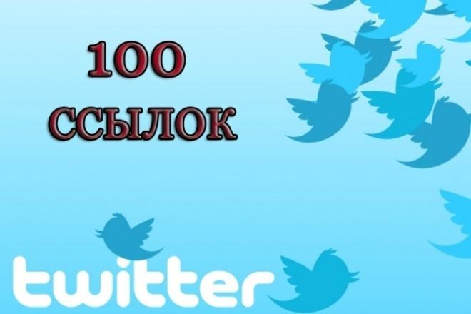 100 ссылок с Twitter. Продвижение в социальной сети Твиттер 1 - kwork.ru