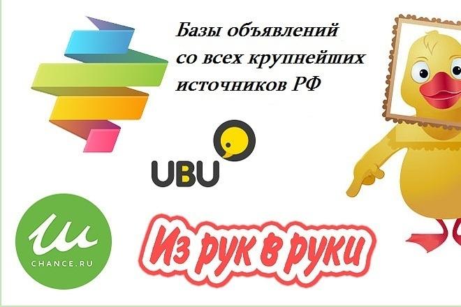 Сбор базы и парсинг объявлений из популярных досок объявлений 1 - kwork.ru