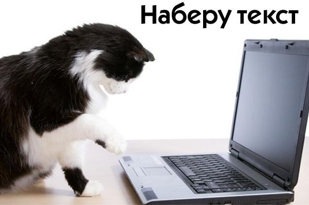 Качественный набор текста, перевод аудио-, видеоматериала в текст 1 - kwork.ru