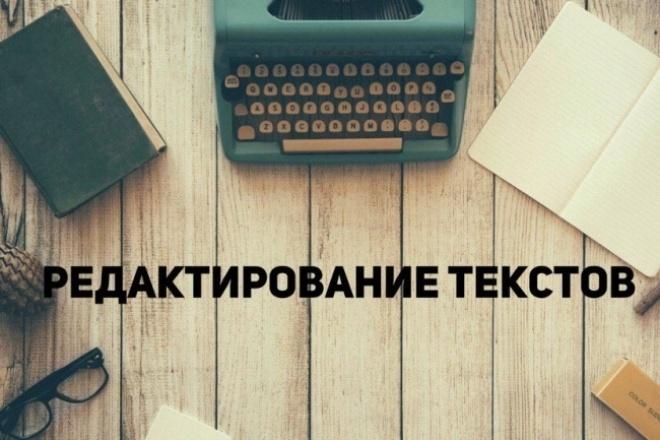 Корректура и редактирование текстов 1 - kwork.ru