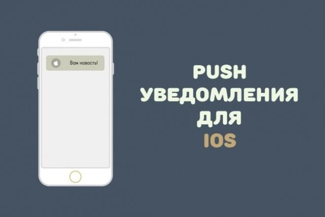 Добавлю пуш уведомления в Ваше приложение iOS 1 - kwork.ru