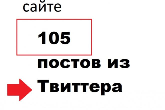105 постов из Твиттера - это будут ссылки на Ваш блог 1 - kwork.ru