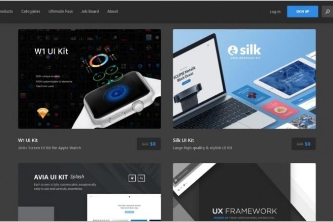 Платный UI Kit 1 - kwork.ru