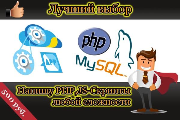 Пишу PHP, JS-скриптыСкрипты<br>Напишу необходимый Вам скрипт на PHP или JS. От Вас - максимально детально составленное ТЗ, от меня - качество и сроки.<br>