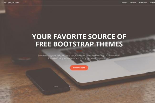Сверстаю одностраничный шаблон на основе Bootstrap 1 - kwork.ru