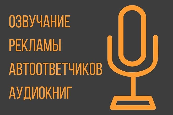 Озвучка рекламы, автоответчиков, аудио книг 1 - kwork.ru
